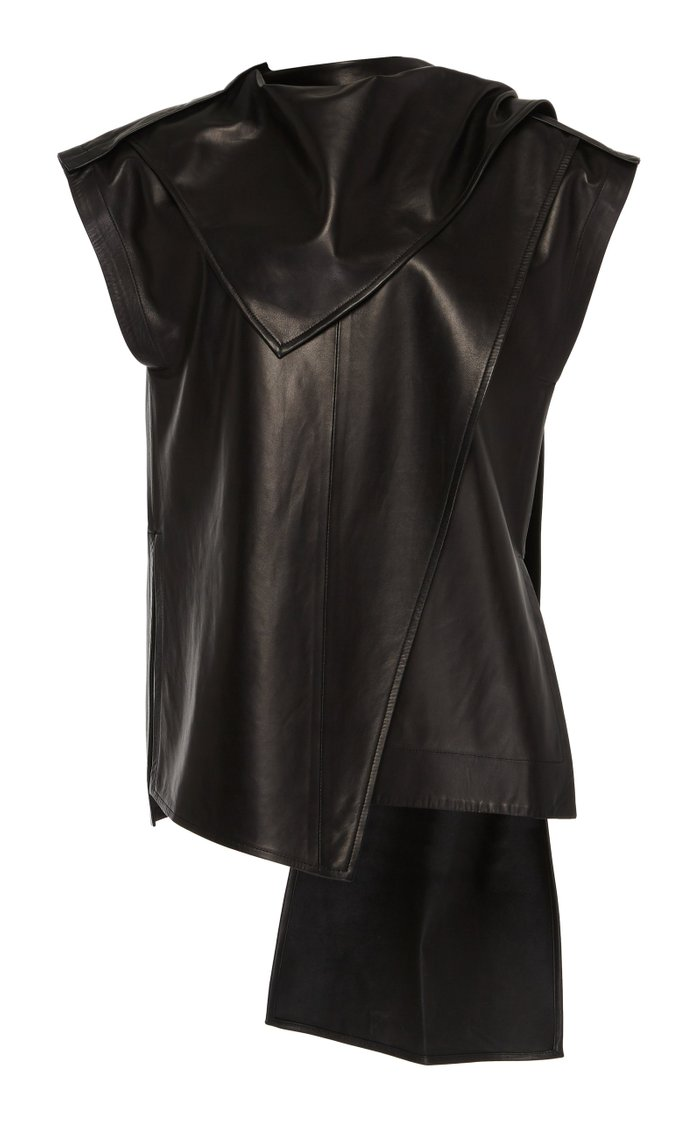 Leather Scarf Top