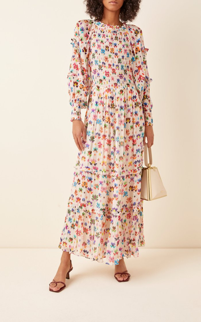 Iquitos Smocked Broadcloth Maxi Dress