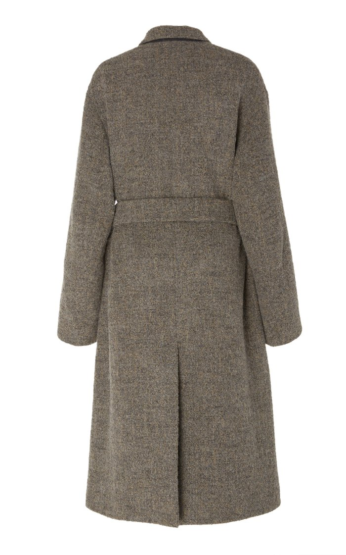 Belted Double-Breasted Bouclé Coat