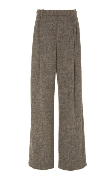 Bouclé Wide-Leg Pants