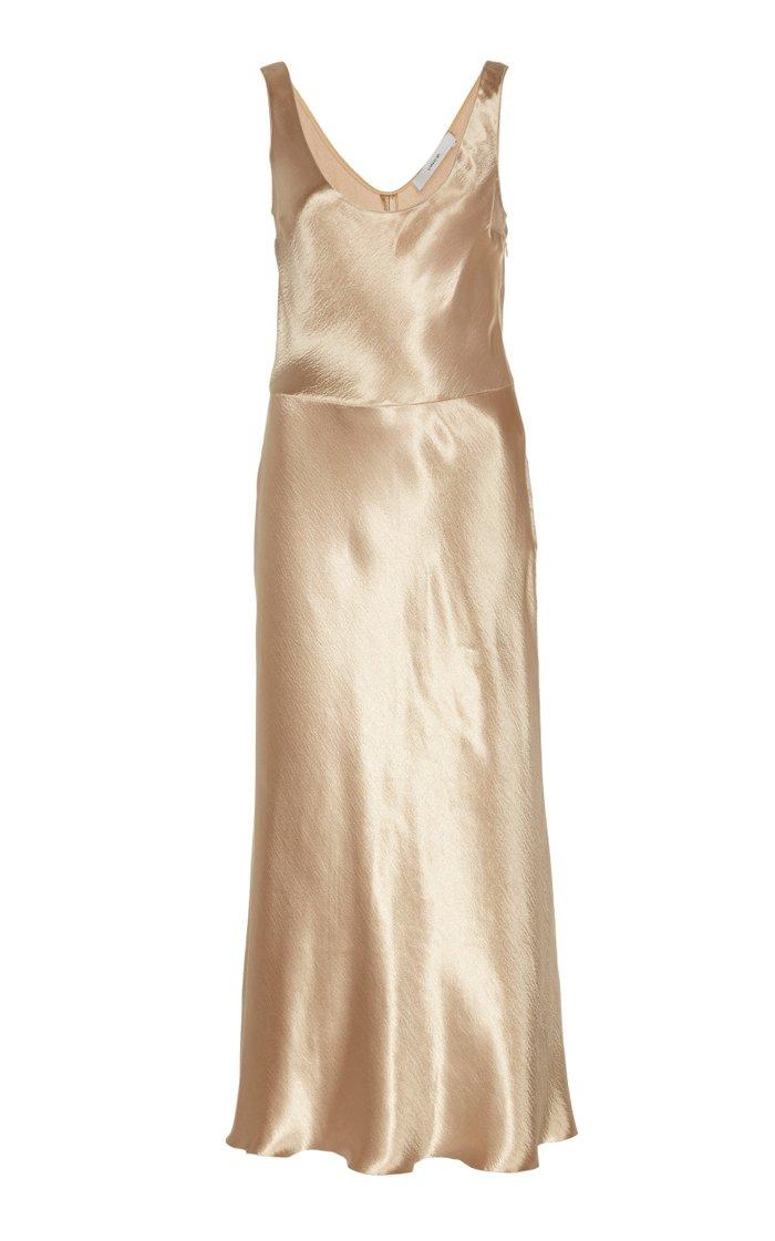 Satin-Effect Tank Dress