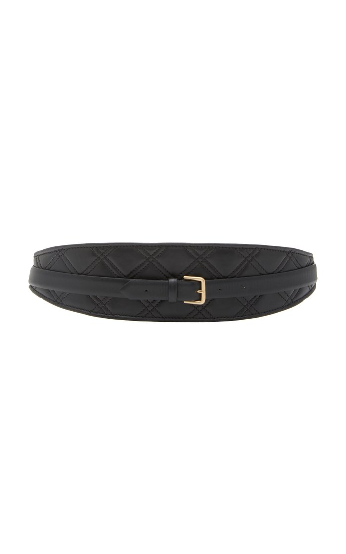 Calf Leather Quilted Double Belt