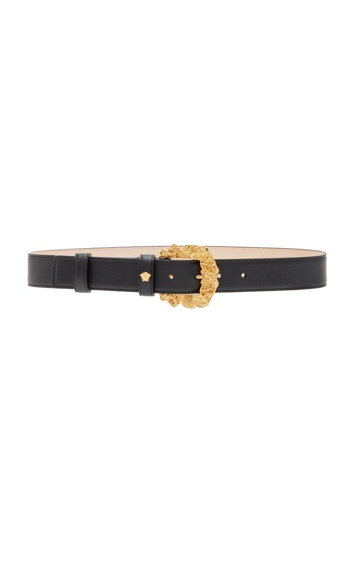 Western Leather Buckle Belt