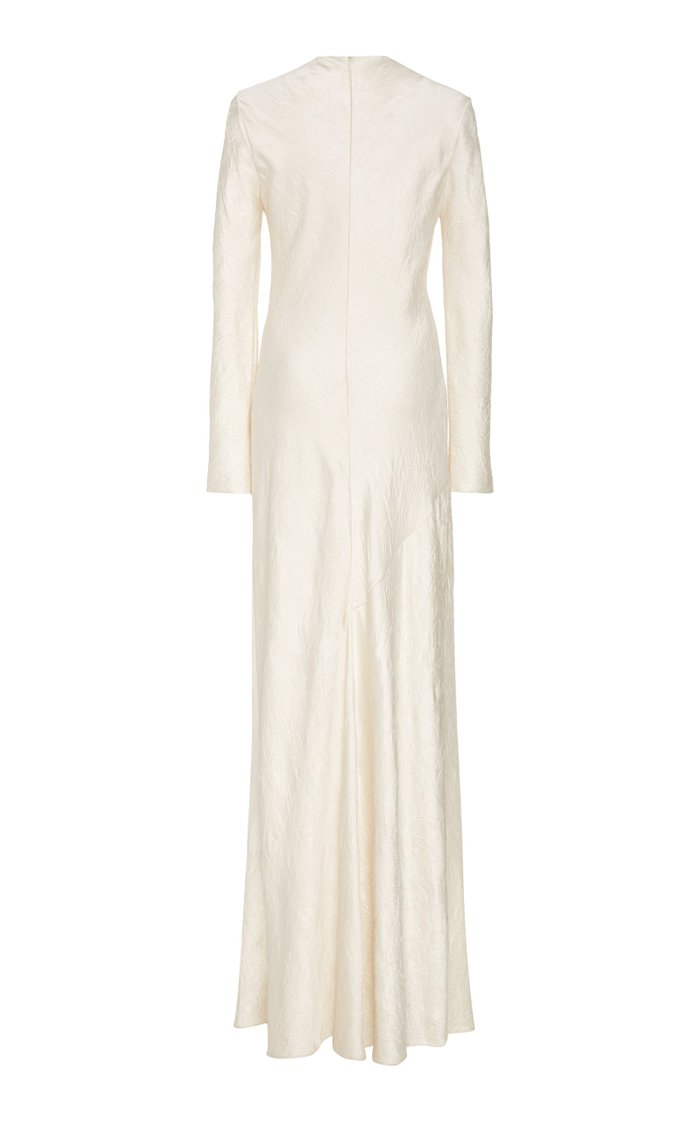 Crinkled Satin Maxi Dress