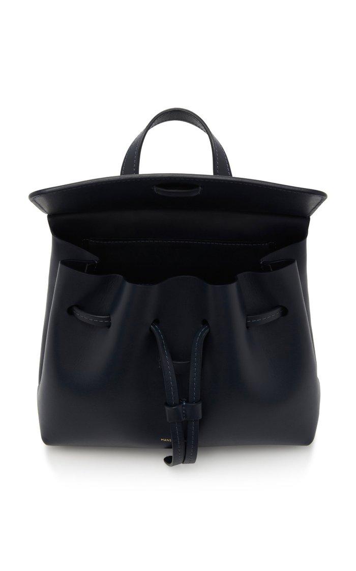 Mini Lady Leather Backpack