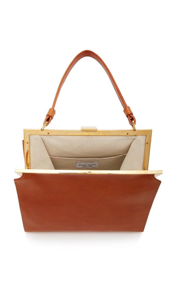Elegant Leather Top Handle Bag