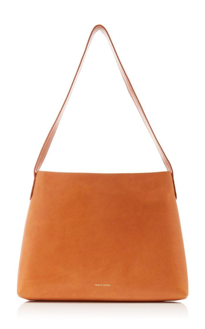 Small Hobo Leather Shoulder Bag