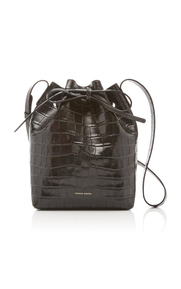 Mini Leather Bucket Bag
