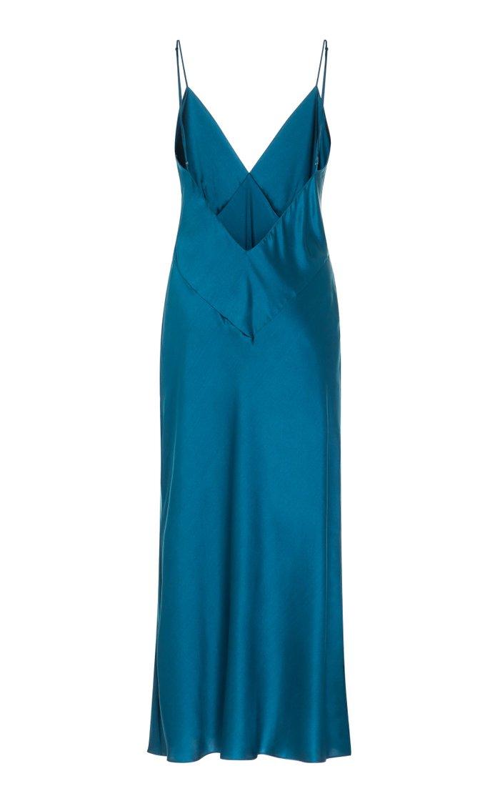 Issa Silk-Satin Midi Dress