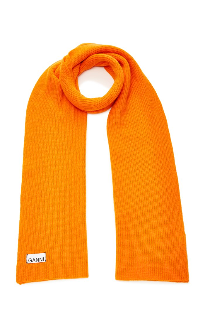 Ribbed Wool-Blend Scarf