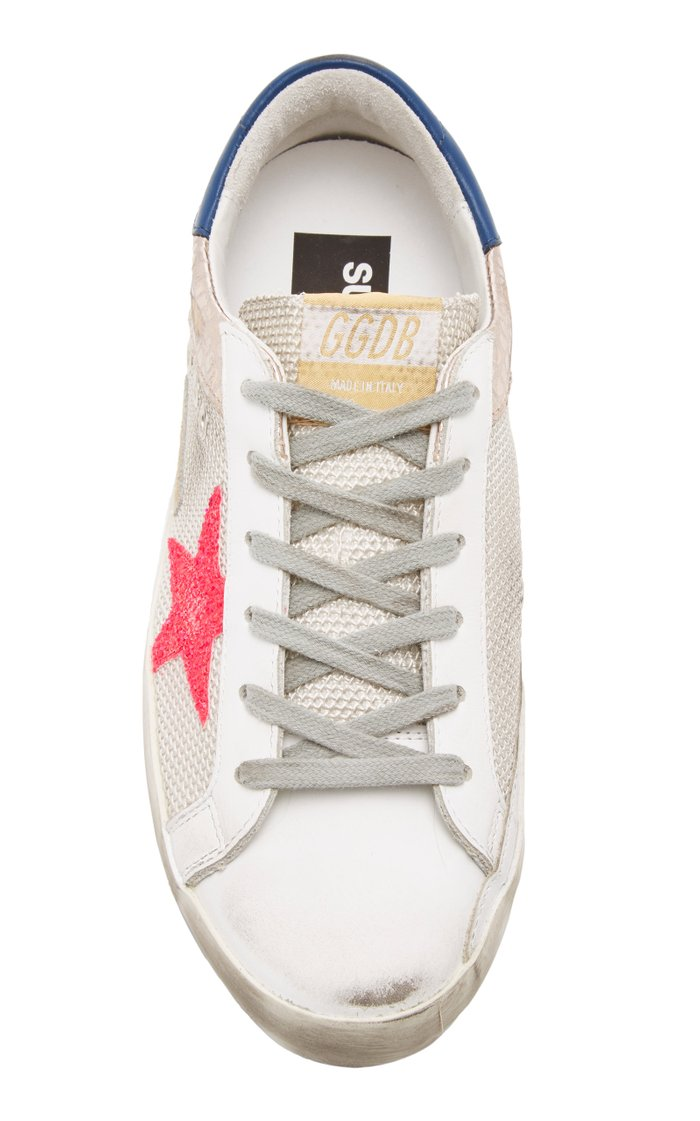 Superstar Embossed Leather Sneakers