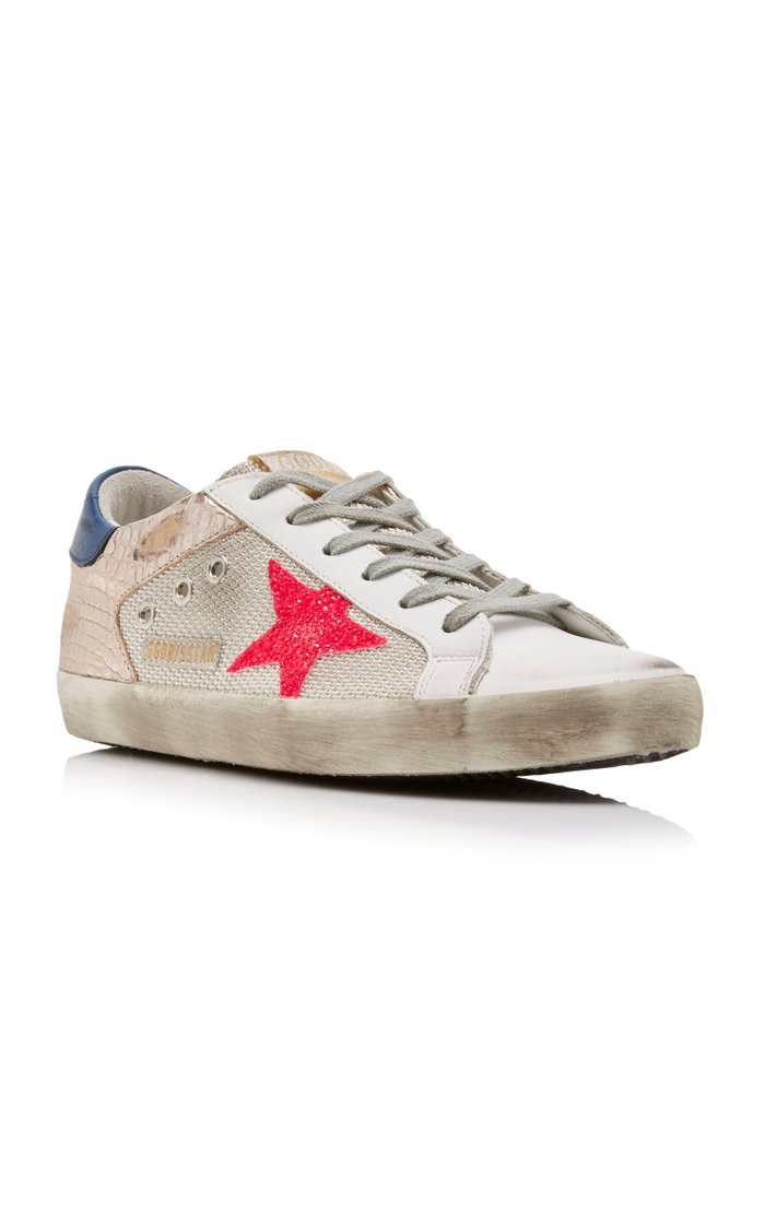 Superstar Embossed Leather Sneakers