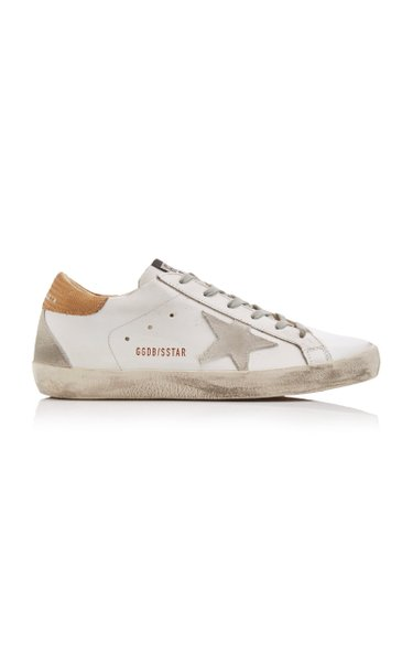 Superstar Distressed Leather Sneakers