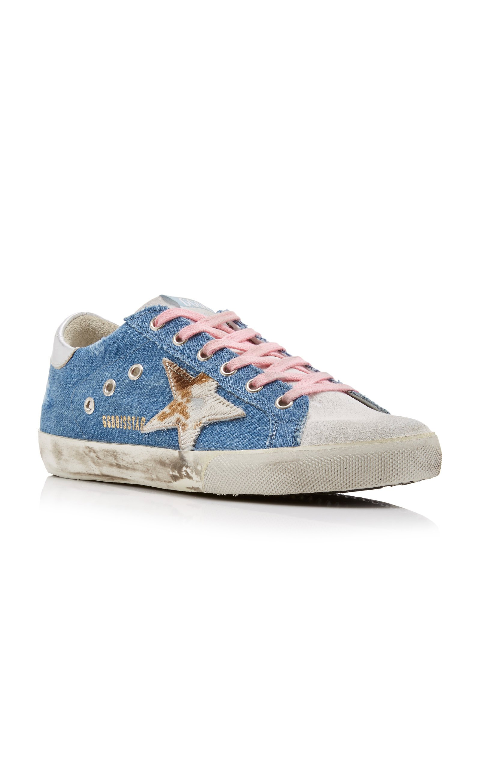 Superstar Denim And Leather Sneakers By