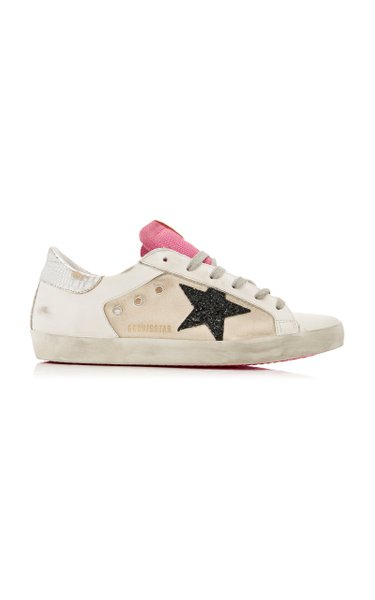 Superstar Leather-Blend Sneakers