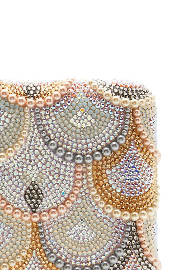 Scalloped Crystal Seamless Clutch