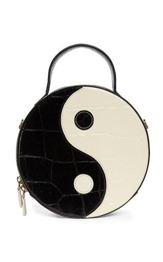 Yin Yang Croc-Effect Leather Shoulder Bag