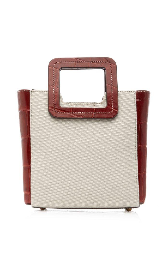 Mini Shirley Croc-Embossed Leather Bag