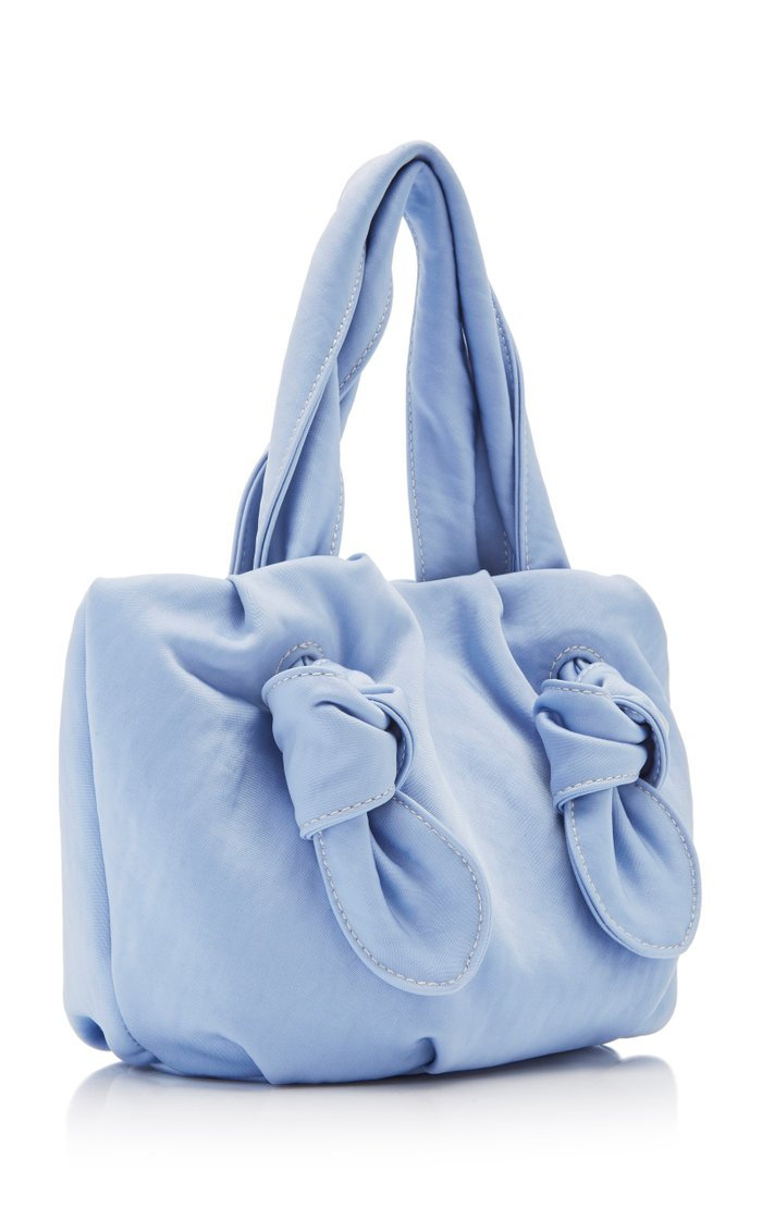 Ronnie Knotted Satin Top Handle Bag