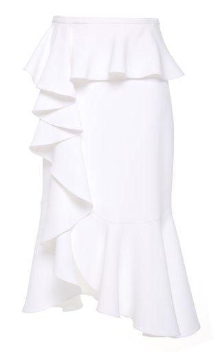 Ruffled Crepe Skirt