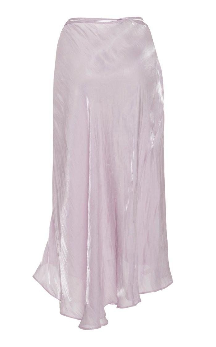 Carlotta Satin Wrap Skirt