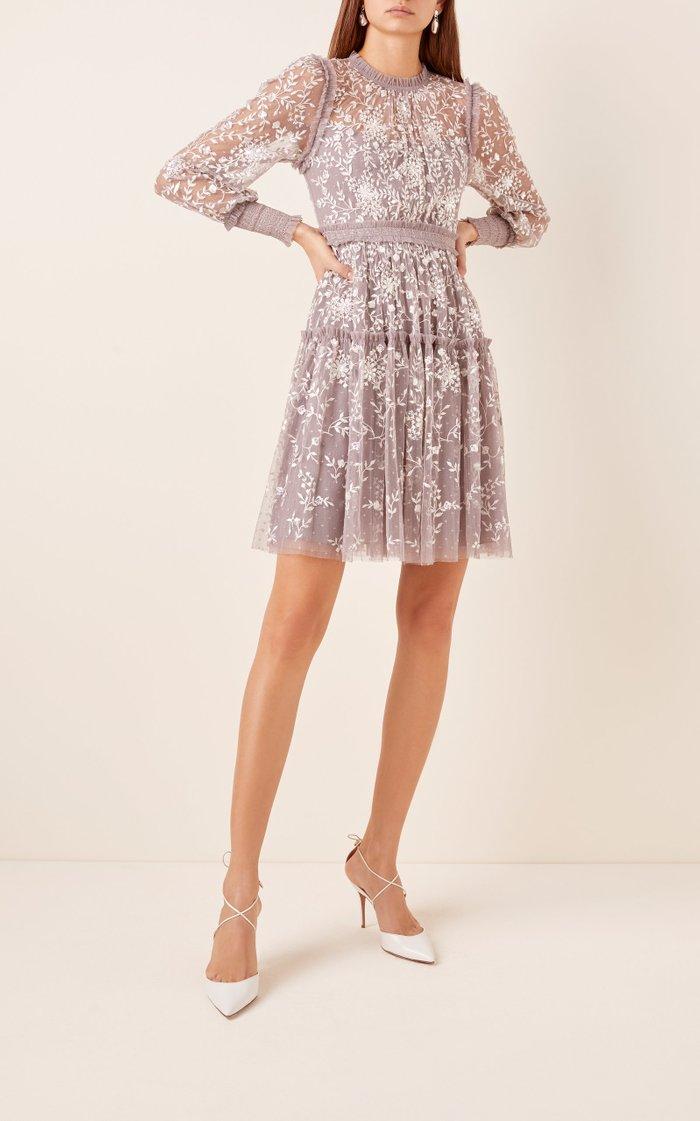 Whitethorn Embroidered Mini Dress