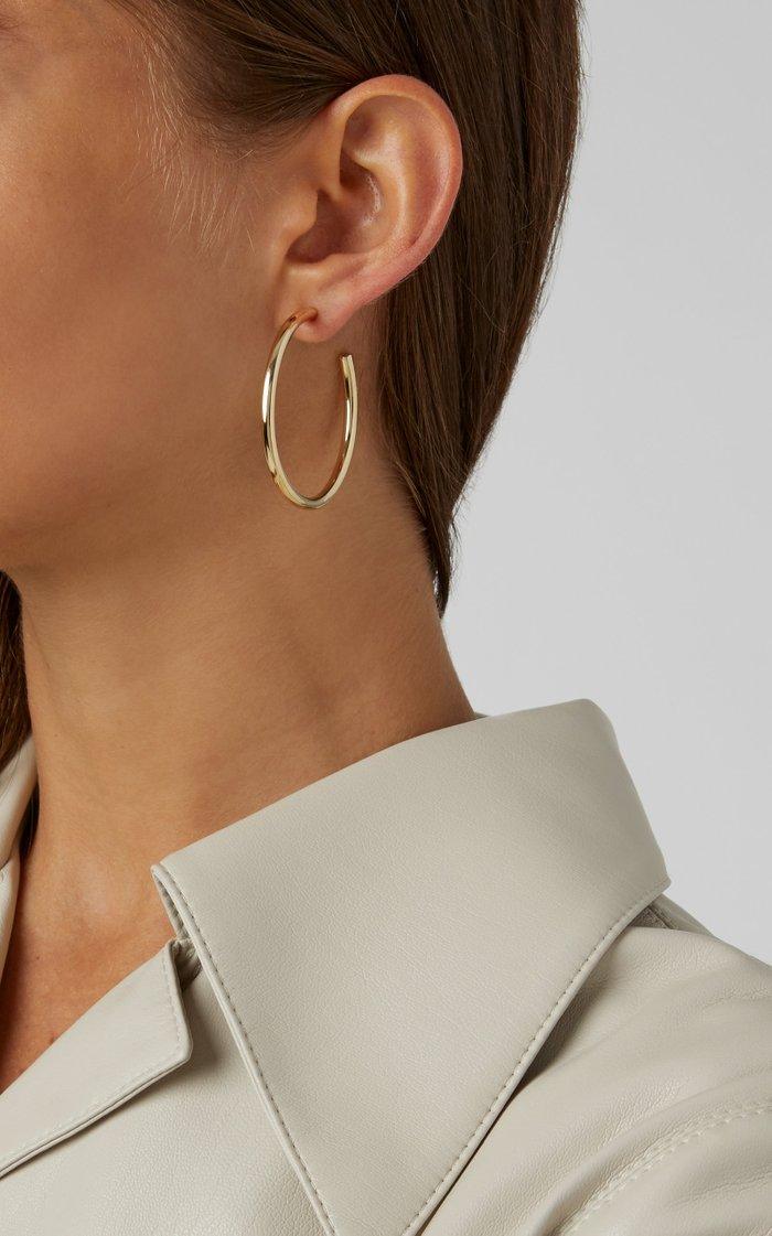 Baby Classic 14K Gold-Plated Hoop Earrings