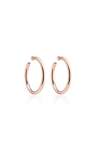 Baby Classic 14K Rose Gold-Plated Hoop Earrings