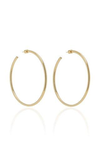 Classic 14K Gold-Plated Hoop Earrings