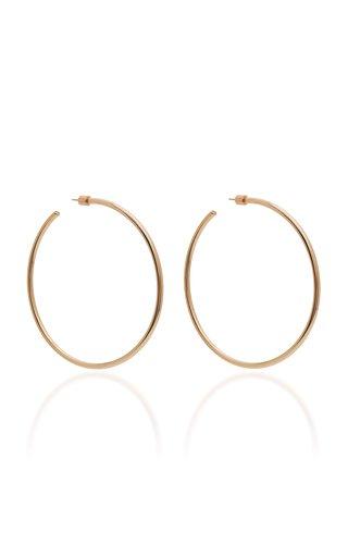 Classic 14K Rose Gold-Plated Hoop Earrings