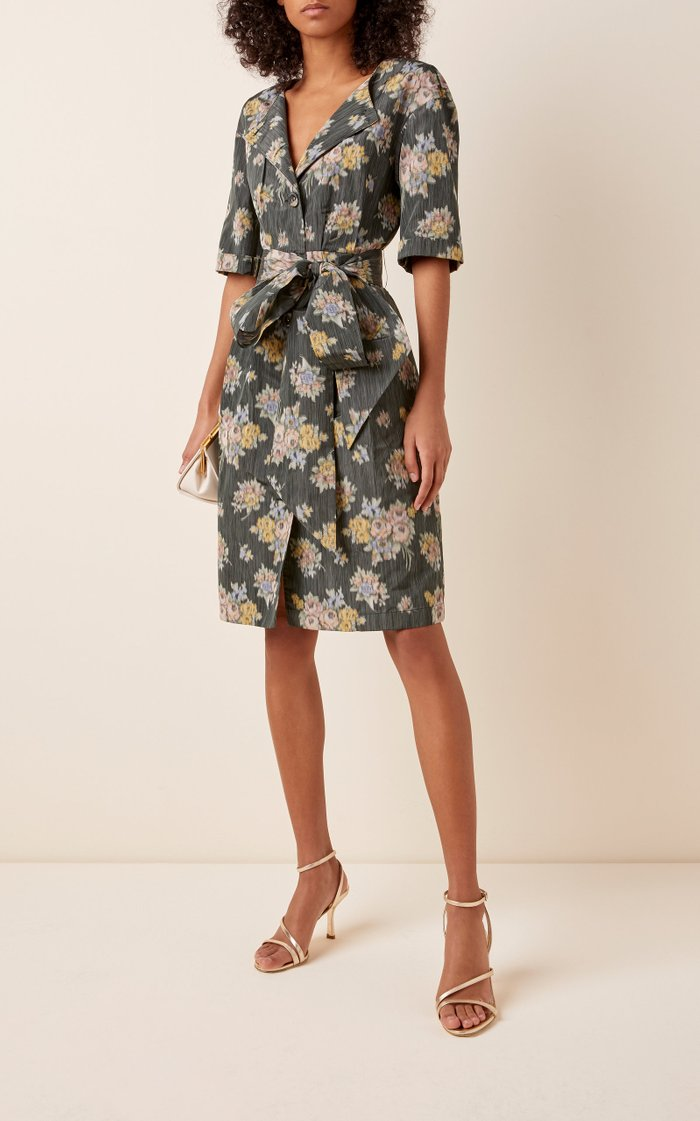 Belted Poplin Dress