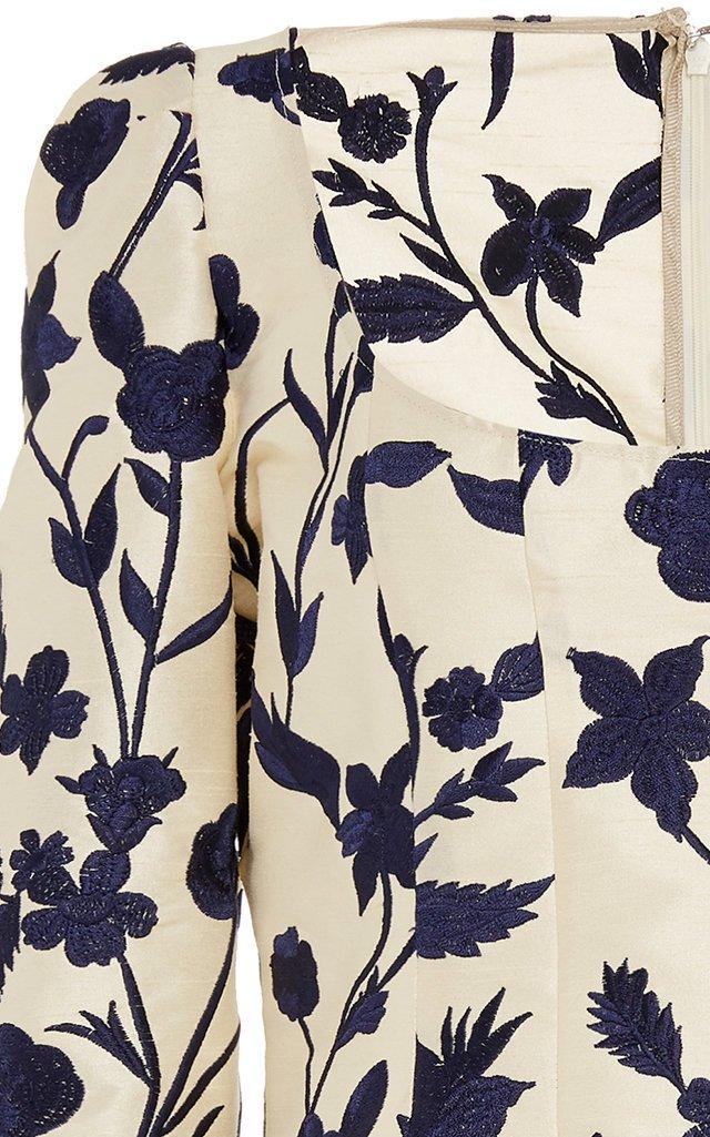 Floral-Jacquard Top