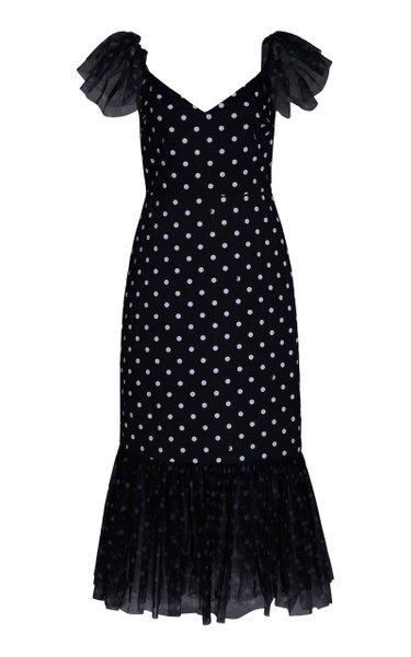 Marwa Printed Poplin Dress