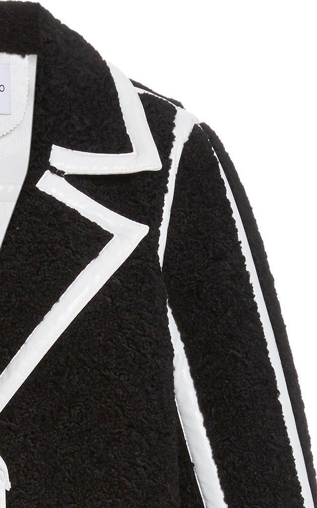 Kenzie Faux Shearling PVC Coat
