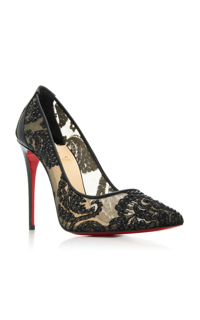 Exclusive Follies Embellished Mesh Pumps