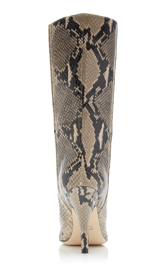 Python-Effect Leather Boots