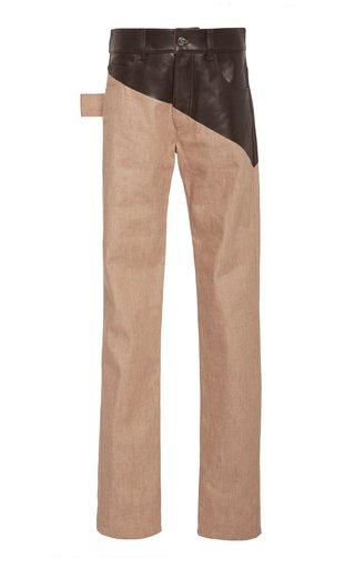 High-Rise Dual Denim Trouser