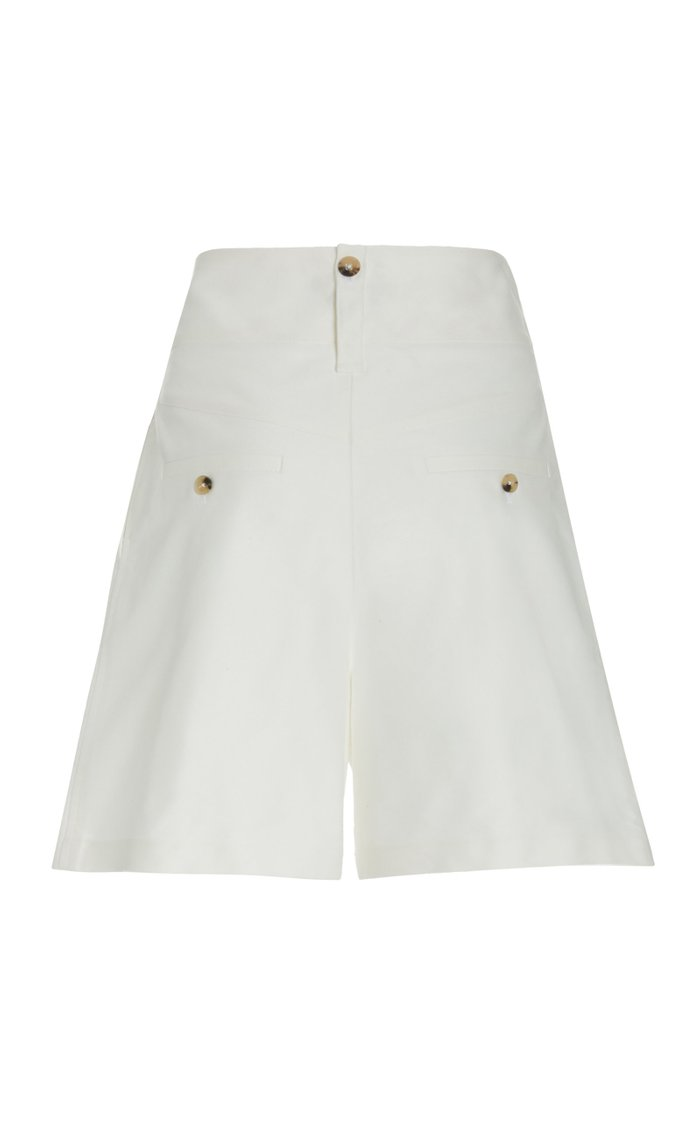 Belted Cotton Wide-Leg Shorts