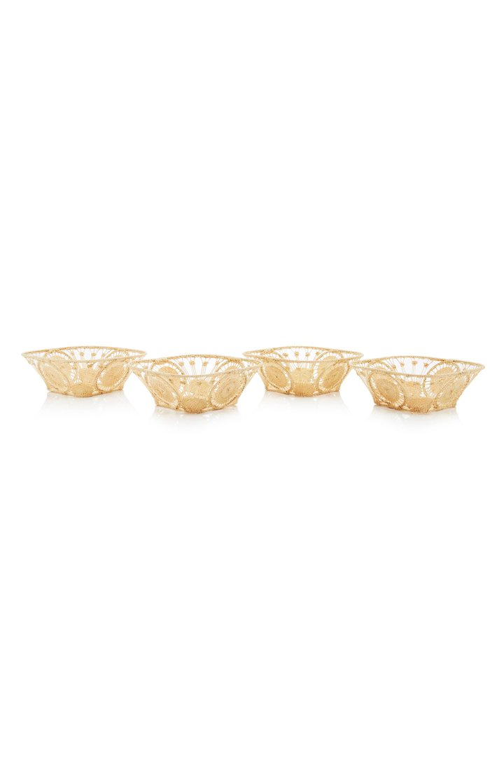 Set-of-4 Raffia Bowls