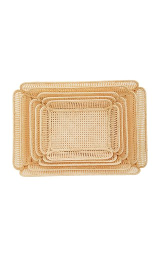 Set-of-5 Raffia Nesting Baskets