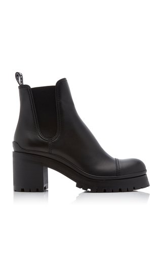 Calf Leather Heeled Chelsea Boots