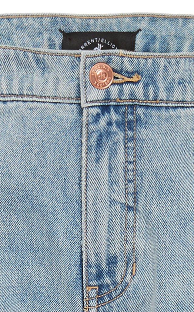 The Shangri-La Rigid Denim Wide-Leg Jeans