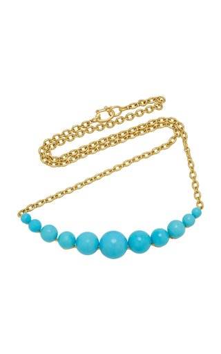 18K Gold And Turquoise Necklace