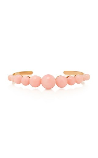 18K Rose Gold And Pink Opal Cuff