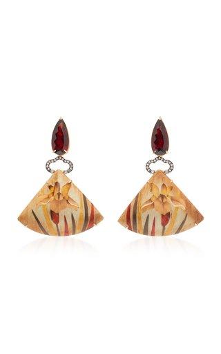 18K Gold And Diamond Earrings