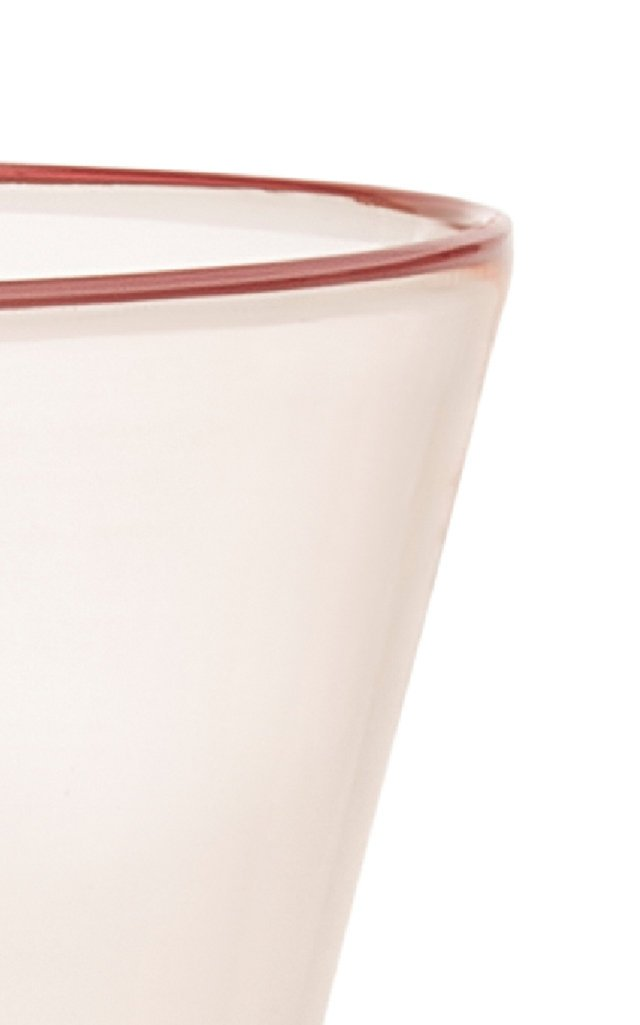 Footed Pink Wine Glass