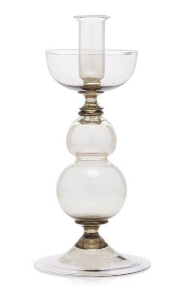 Short Murano Glass Candlestick
