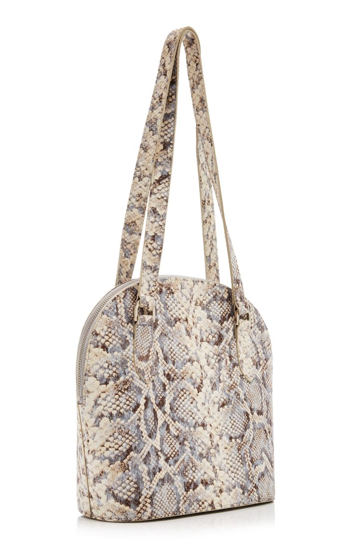 Pisa Snake-Effect Leather Shoulder Bag