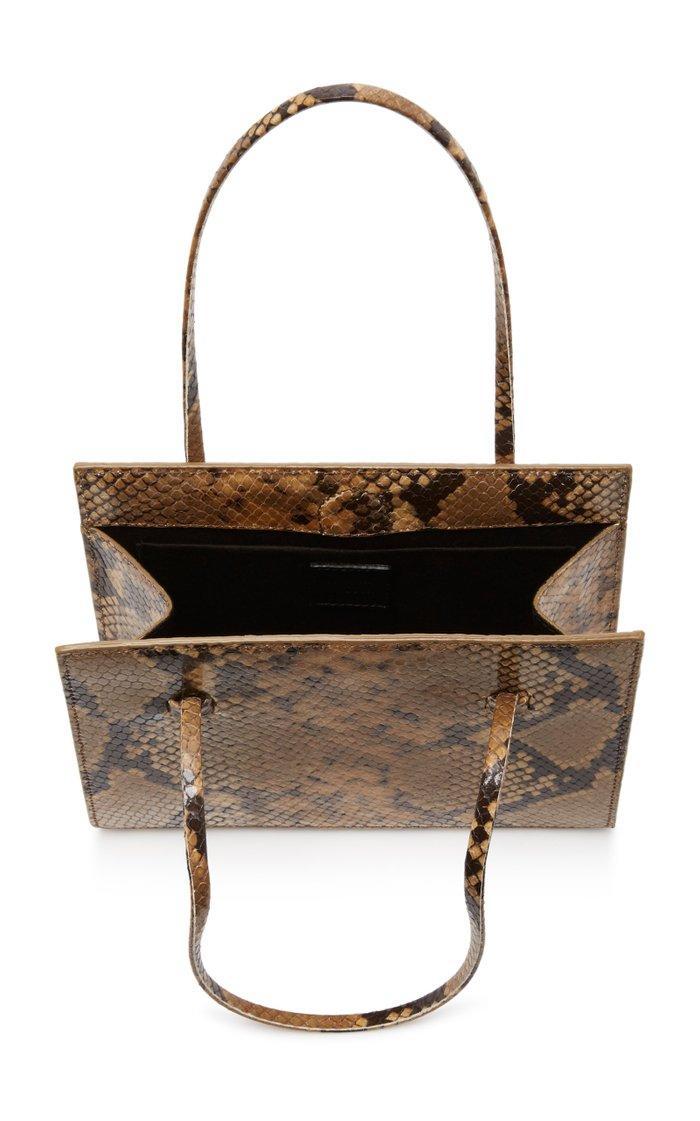 Anika Snake-Effect Leather Shoulder Bag