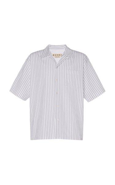 Striped Cotton-Poplin Shirt